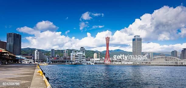 Wide angle view at Port of Kobe, Japan