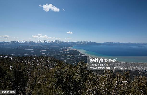 Wide Angle View of South Lake Tahoe, CA Snowpack