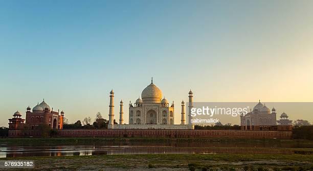 Wide angle view of Taj Mahal, Agra, India