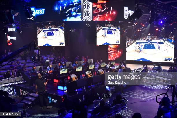 Wide angle view of the arena during the game against Knicks Gaming and Jazz Gaming during the NBA 2K League Ticket Tournament on June 13 2019 The...
