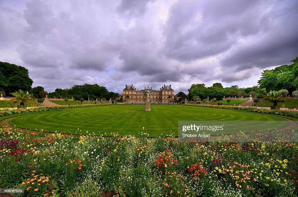 Luxembourg Gardens and Palace, Paris, France : News Photo