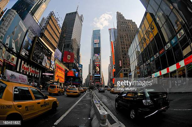 CONTENT] Wide Angle view of Times Square New York City