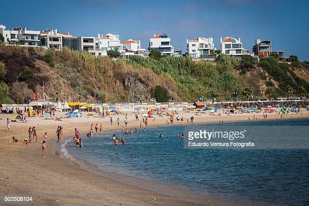 Wide angle view of Vasco da Gama Beach in Sines, PORTUGAL