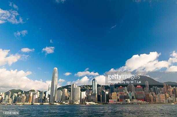 Wide angle view of Victoria Harbour