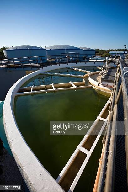 Weitwinkel-Ansicht Wasseraufbereitungsanlage