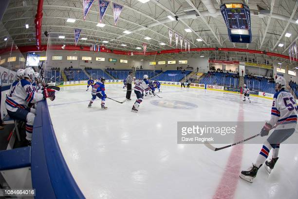 A wide few of game two between the US Nationals and the Slovakia Nationals on day one of the 2018 Under17 Four Nations Tournament game at USA Hockey...