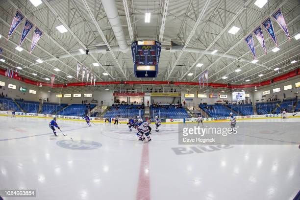 A wide few of the start of game two between the US Nationals and the Slovakia Nationals on day one of the 2018 Under17 Four Nations Tournament game...