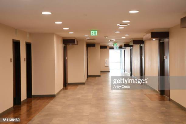 A wide open hallway a traumainformed concept at the Sanderson Apartments by the Mental Health Center of Denver a threestory 50000 sq ft building that...
