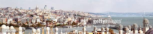 Große Panoramablick auf Istanbul und Galata Beyoglu