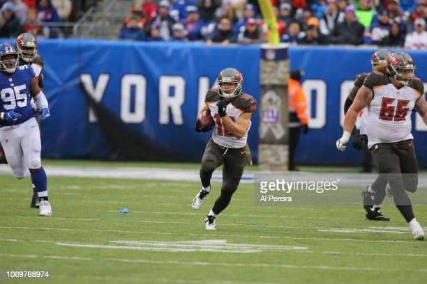 Wide Receiver Adam Humphries of the Tampa Bay Buccaneers in action against the New York Giants at MetLife Stadium on November 18 2018 in East...