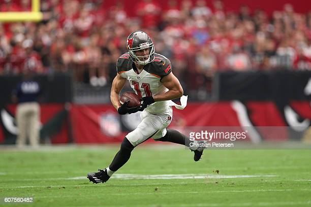 Wide receiver Adam Humphries of the Tampa Bay Buccaneers runs up field during the first quarter of the NFL game against the Arizona Cardinals at the...