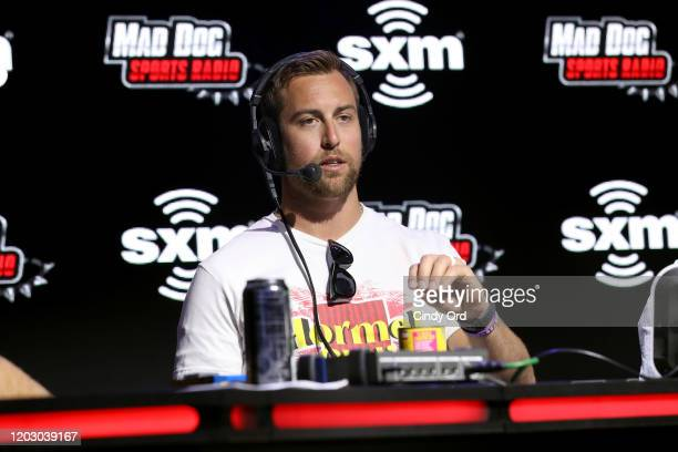 NFL wide receiver Adam Thielen of the Minnesota Vikings speaks onstage during day 2 of SiriusXM at Super Bowl LIV on January 30 2020 in Miami Florida