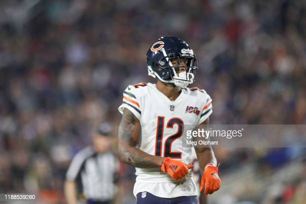 Wide receiver Allen Robinson of the Chicago Bears looks on during the game against the Los Angeles Rams at Los Angeles Memorial Coliseum on November...