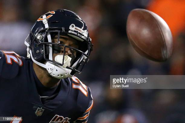 Wide receiver Allen Robinson of the Chicago Bears watches an overthrown pass in the third quarter of the game against the Kansas City Chiefs at...