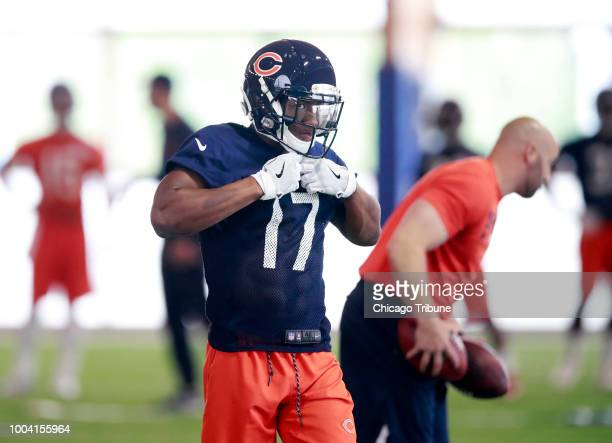 Wide receiver Anthony Miller during the Chicago Bears rookie minicamp on Saturday May 12 2018 at the Walter Payton Center in Lake Forest Ill