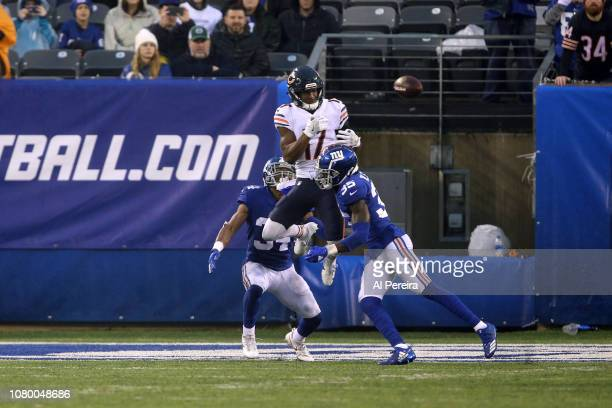 Wide Receiver Anthony Miller of the Chicago Bears in action against the New York Giants at MetLife Stadium on December 02 2018 in East Rutherford New...