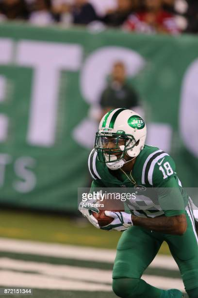 Wide Receiver ArDarius Stewart of the New York Jets in action against the Buffalo Bills at MetLife Stadium on November 2 2017 in East Rutherford New...