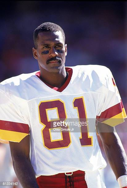 Wide receiver Art Monk of the Washington Redskins looks on during a NFL game against the San Francisco 49ers at Candlestick Park on September 16,...