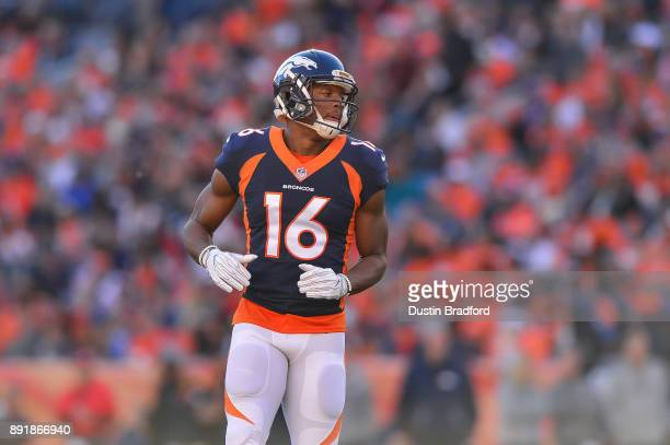 Wide receiver Bennie Fowler of the Denver Broncos gets into formation against the New York Jets at Sports Authority Field at Mile High on December 10...