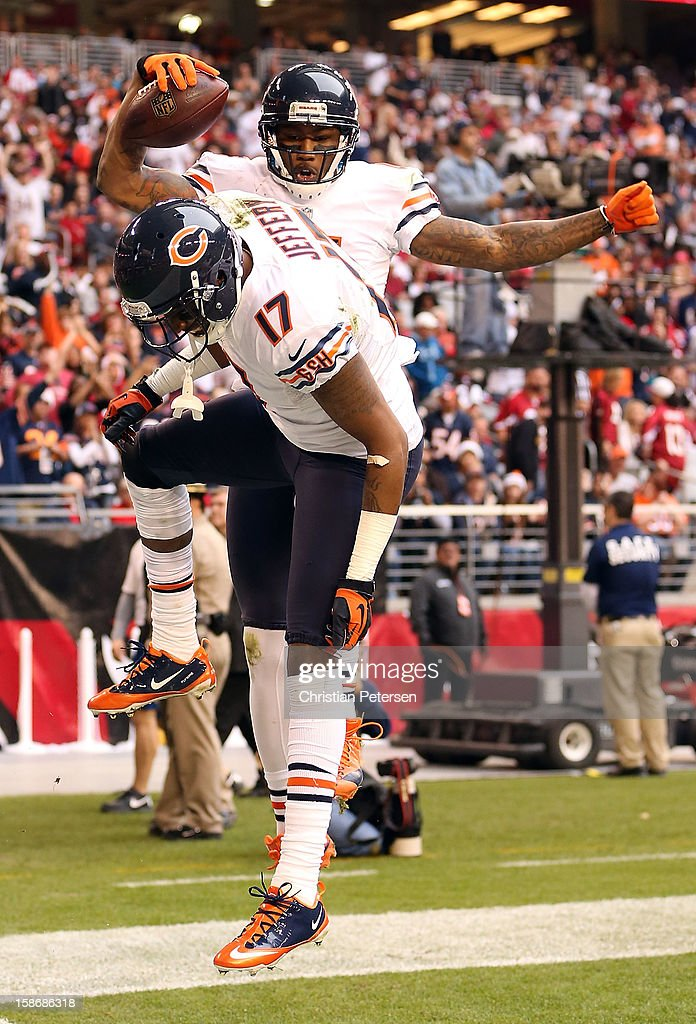 newest f3ad4 b8c68 Wide receiver Brandon Marshall of the Chicago Bears ...