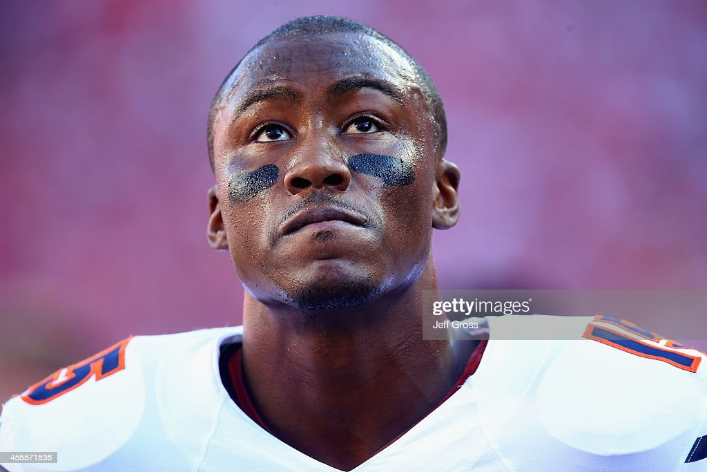 Wide receiver Brandon Marshall #15 of the Chicago Bears looks on prior to the start of the game against the San Francisco 49ers at Levi's Stadium on September 14, 2014 in Santa Clara, California.