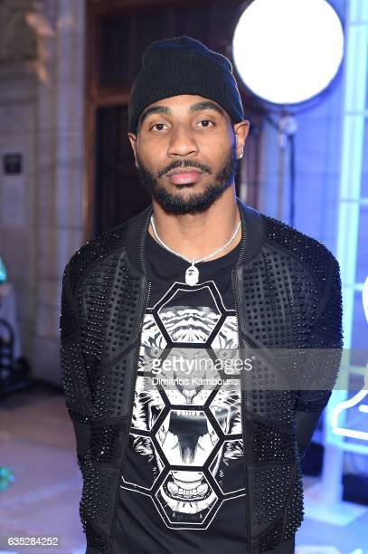 NFL wide receiver Braxton Miller attends the Front Row for the Philipp Plein Fall/Winter 2017/2018 Women's And Men's Fashion Show at The New York...