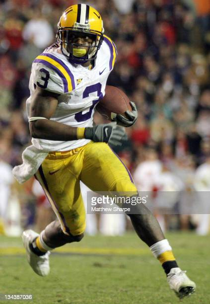 LSU wide receiver Buster Davis looks downfield against Ole Miss at Tiger Stadium in Baton Rouge Louisiana on Saturday November 18 2006 LSU won in...
