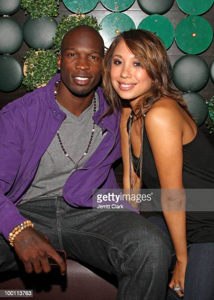 NFL wide receiver Chad Ochocinco Johnson and Cheryl Burke of Dancing with the Stars attend the The Lingerie Party hosted by adult entertainment stars...