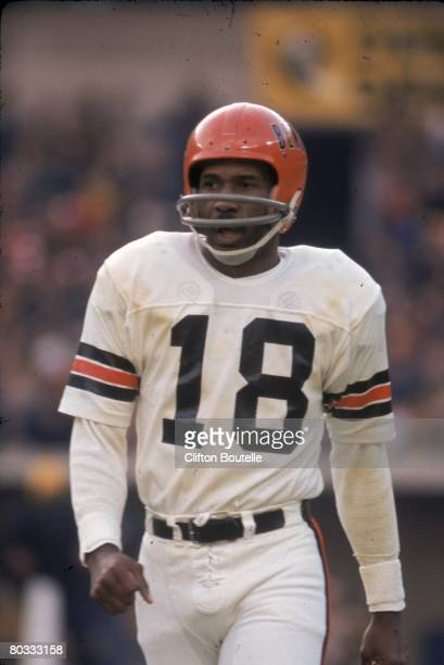 Wide receiver Charlie Joiner of the Cincinnati Bengals walks on the field against the Pittsburgh Steelers at Three Rivers Stadium on December 14 1974...