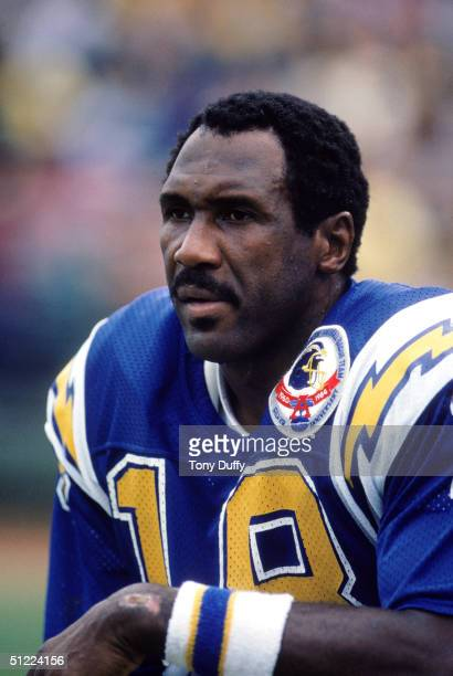 Wide receiver Charlie Joiner of the San Diego Chargers focuses as he is about to set a NFL receiving record moving ahead of Charley Taylor as the...
