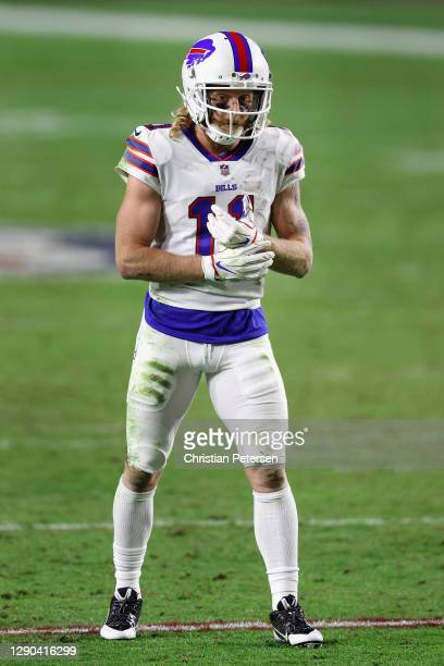 Wide receiver Cole Beasley of the Buffalo Bills during the NFL game against the San Francisco 49ers at State Farm Stadium on December 07, 2020 in...