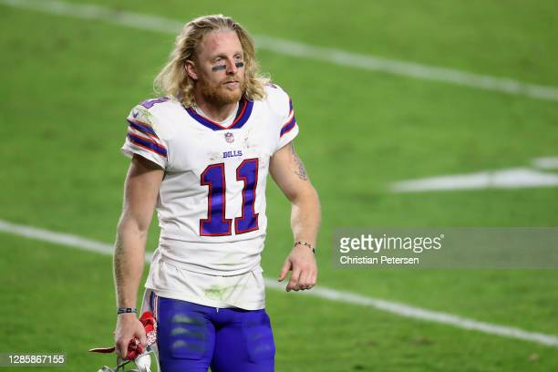Wide receiver Cole Beasley of the Buffalo Bills walks off the field following the NFL game against the Arizona Cardinals at State Farm Stadium on...