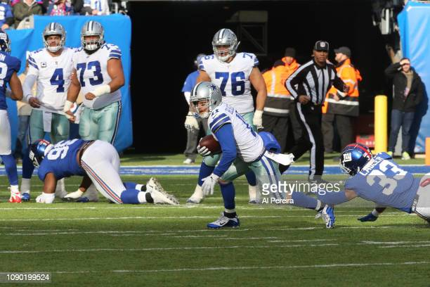 Wide Receiver Cole Beasley of the Dallas Cowboys in action against the New York Giants at MetLife Stadium on December 30 2018 in East Rutherford New...