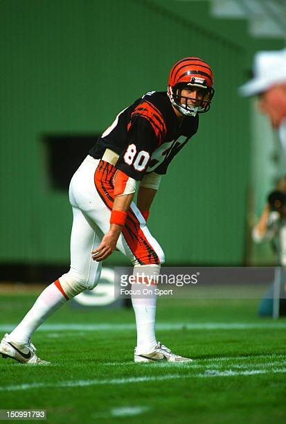 Wide Receiver Cris Collinsworth of the Cincinnati Bengals stands at his position against the San Diego Chargers during an NFL football game at Jack...