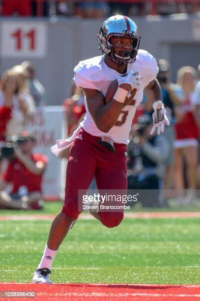 Wide receiver Damion Willis of the Troy Trojans runs against the Nebraska Cornhuskers at Memorial Stadium on September 15 2018 in Lincoln Nebraska