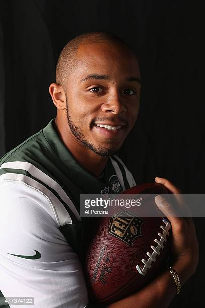 Wide Receiver DeVier Posey of the New York Jets appears in a portrait on June 16 2015 in Florham Park New Jersey