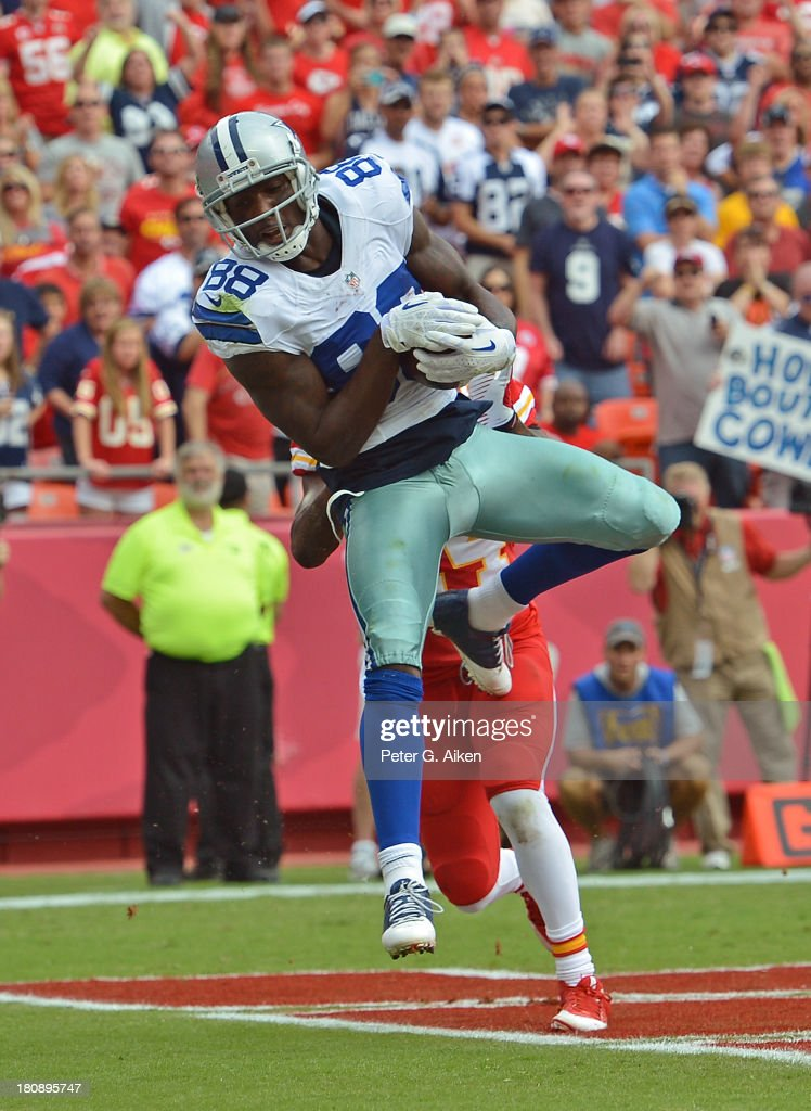 Wide Receiver Dez Bryant Of The Dallas Cowboys Catches A