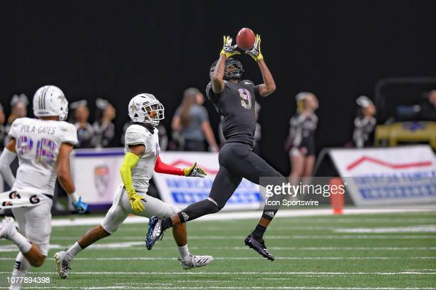 Wide receiver Frank Ladson makes a catch during the AllAmerican Bowl on January 05 2019 at the Alamodome in San Antonio Texas
