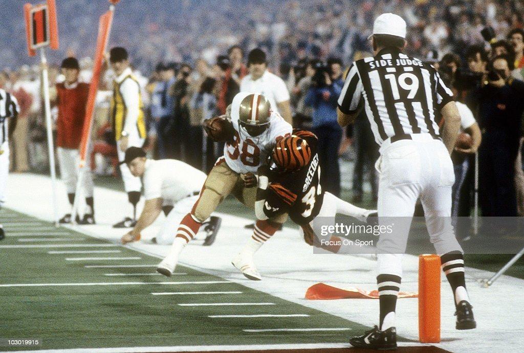 January 24, 1982: Super Bowl XVI - Cincinnati Bengals v San Francico 49ers : News Photo