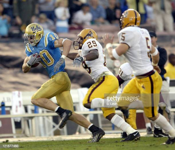 UCLA wide receiver Gavin Ketchum during the Arizona State vs UCLA game at the Rose Bowl in Pasadena CA on Nov 12 2005 UCLA won their last home game...