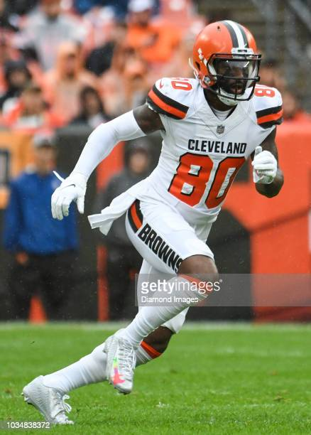 Wide receiver Jarvis Landry of the Cleveland Browns runs a route in the first quarter of a game against the Pittsburgh Steelers on September 9 2018...