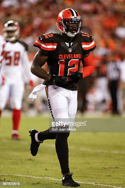 Wide Receiver Josh Gordon of the Cleveland Browns during a preseason game against the Tampa Bay Buccaneers at Raymond James Stadium on August 26 2016...