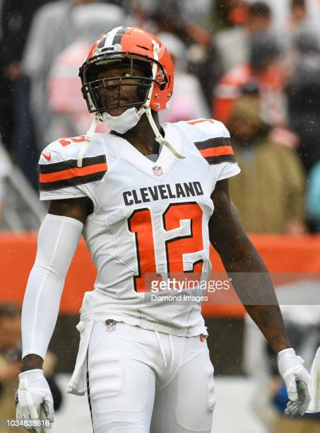 Wide receiver Josh Gordon of the Cleveland Browns on the field in the first quarter of a game against the Pittsburgh Steelers on September 9 2018 at...