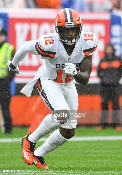 Wide receiver Josh Gordon of the Cleveland Browns runs a route in the second quarter of a game against the Pittsburgh Steelers on September 9 2018 at...