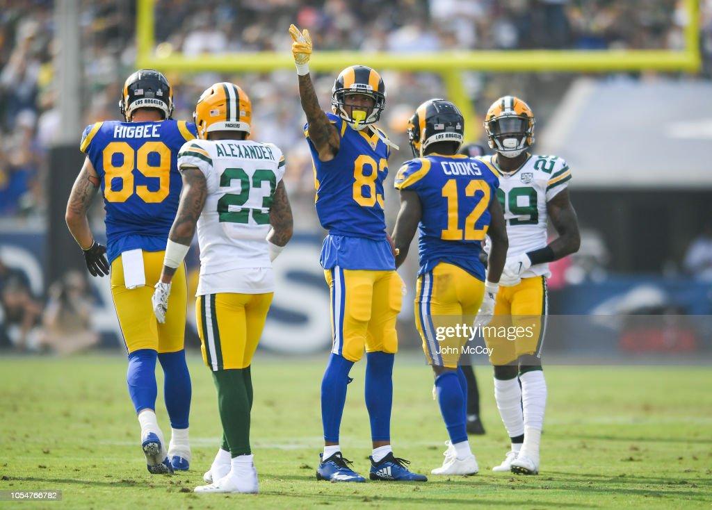 Green Bay Packers v Los Angeles Rams : Fotografia de notícias