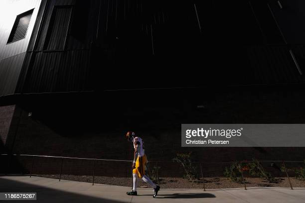 Wide receiver Kyle Ford of the USC Trojans walks out onto the field before the NCAAF game against the Arizona State Sun Devils at Sun Devil Stadium...