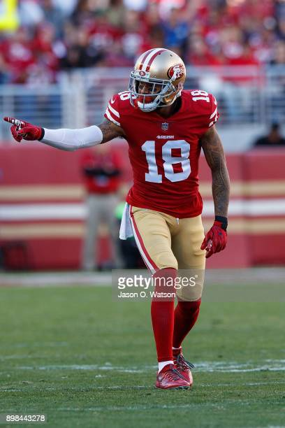 Wide receiver Louis Murphy of the San Francisco 49ers lines up for a play against the Tennessee Titans during the second quarter at Levi's Stadium on...