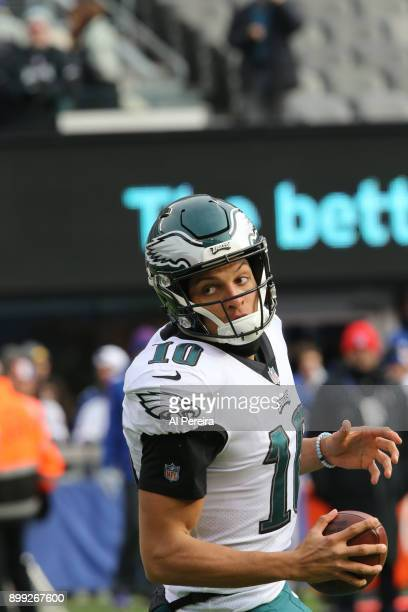 Wide Receiver Mack Hollins of the Philadelphia Eagles in action against the New York Giants during the game at MetLife Stadium on December 17 2017 in...