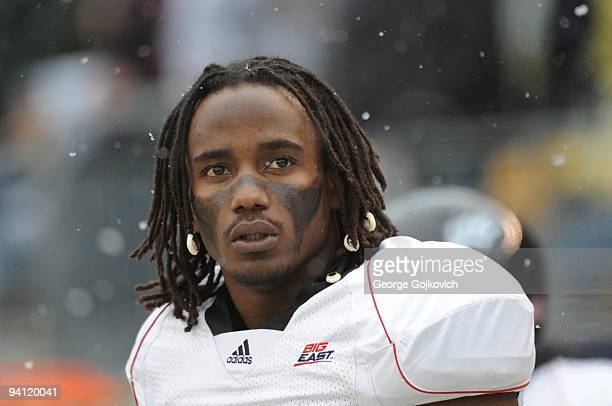 Wide receiver Mardy Gilyard of the University of Cincinnati Bearcats looks on from the field before a Big East college football game against the...