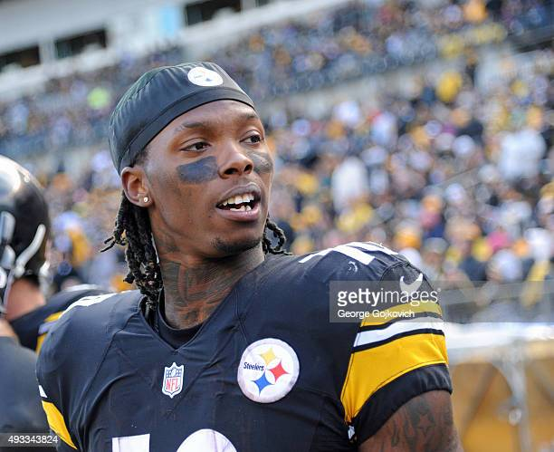 Wide receiver Martavis Bryant of the Pittsburgh Steelers looks on from the sideline during a game against the Arizona Cardinals at Heinz Field on...